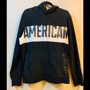 American Eagle Hoodie Black and White M
